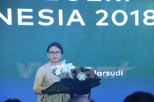 ASEAN: prioridad en politica exterior de Indonesia en 2018 hinh anh 1