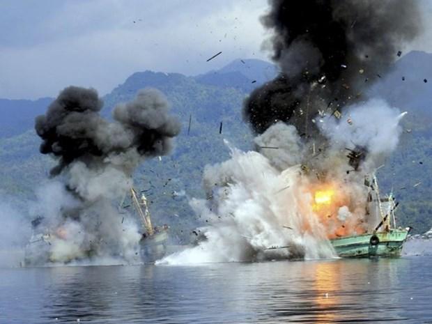 Altos funcionarios de Indonesia urgen a dejar de destruir pesqueros extranjeros hinh anh 1