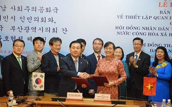 Ciudad Ho Chi Minh y Busan (Sudcorea) fomentan amistad y cooperacion hinh anh 1