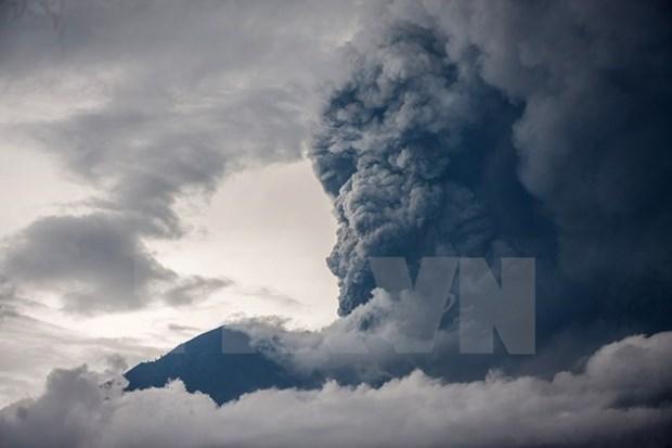 Vuelve a entrar en erupcion volcan en Bali hinh anh 1