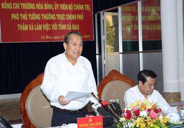 Gobierno vietnamita revisa desarrollo socioeconomico de Ca Mau hinh anh 1