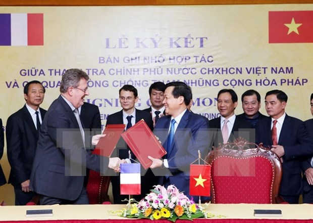 Inspeccion de Vietnam y Francia robustecen lazos en lucha anticorrupcion hinh anh 1