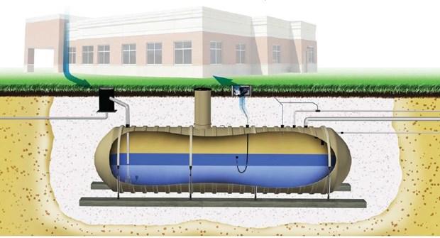 Ciudad vietnamita utiliza tanque subterraneo de recoleccion de agua de lluvia hinh anh 1