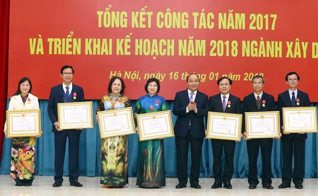 Vietnam planea aumentar en 9,6 por ciento PIB de sector de construccion hinh anh 1