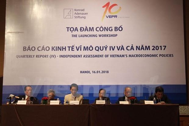 Pronostican a Vietnam un crecimiento economico del 6,65 por ciento en 2018 hinh anh 1