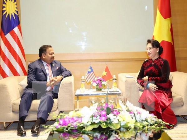 Vietnam y Malasia por fomentar cooperacion en foros parlamentarios hinh anh 1