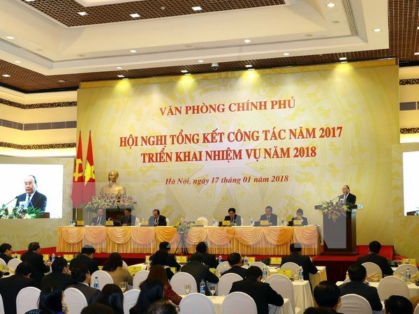 Premier de Vietnam insta a mejorar labores consultivas de Oficina gubernamental hinh anh 1