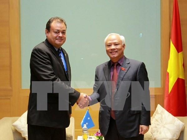 Parlamentos de Vietnam y Estados Federados de Micronesia buscan mejorar cooperacion legislativa hinh anh 1