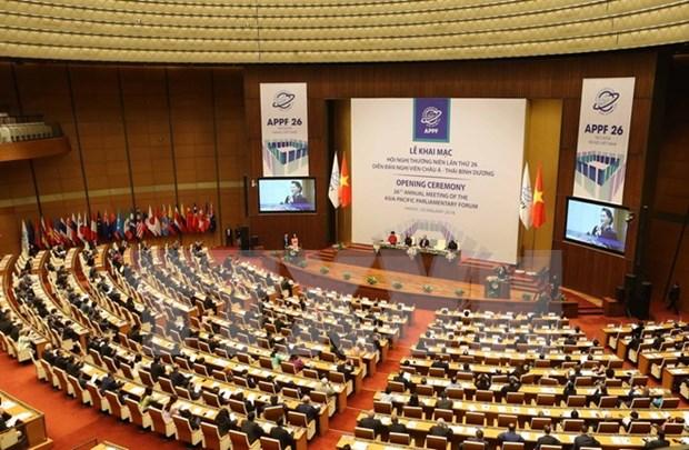 Delegados internacionales destacan el tema de la APPF-26 hinh anh 1