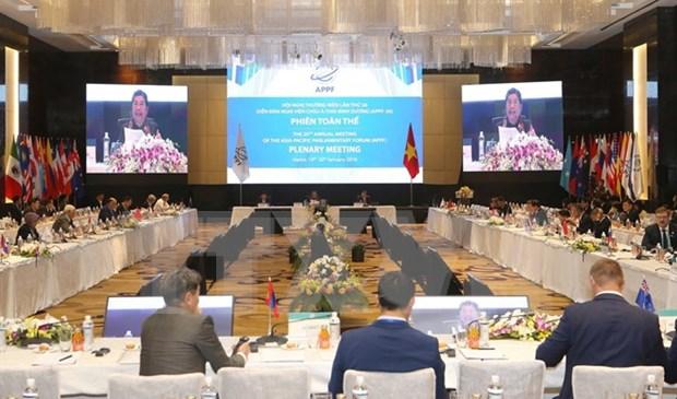 Efectuan segundo plenario de XXVI Reunion anual de APPF hinh anh 1