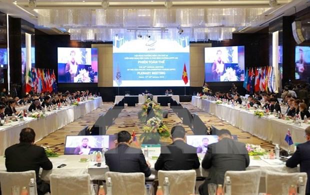 Maximo dirigente partidista de Vietnam recibe a jefes de delegaciones participantes en APPF 26 hinh anh 1