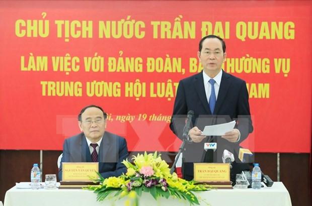 Vietnam continuara facilitando actividades de la Asociacion de Juristas, afirmo Presidente hinh anh 1