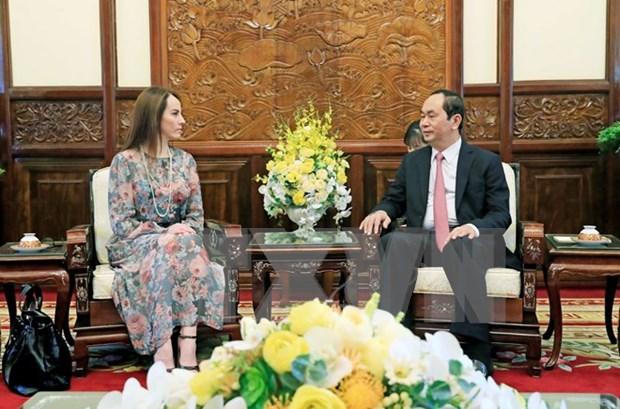 Presidente de Vietnam recibe a titular de IPU hinh anh 1