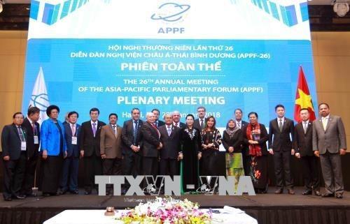 Emiten Declaracion de Hanoi sobre asociacion parlamentaria en Asia-Pacifico hinh anh 1