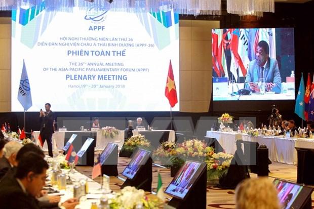 APPF-26 debate asuntos de cooperacion y desarrollo en Asia-Pacifico hinh anh 1
