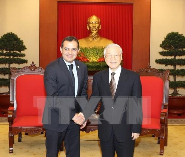 Maximo dirigente partidista de Vietnam aboga por estrechar lazos con Mexico hinh anh 1