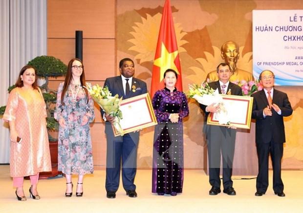 Presidenta parlamentaria de Vietnam recibe a dirigentes de UIP hinh anh 1