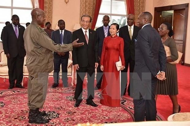 Embajador vietnamita en Uganda presenta cartas credenciales hinh anh 1