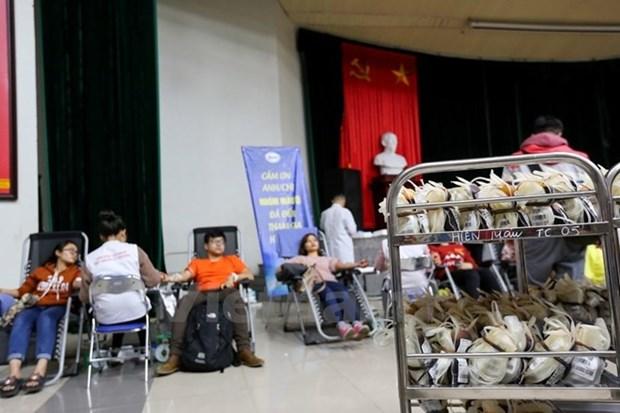 """Vicepremier vietnamita asiste a movimiento de donacion de sangre """"Domingo Rojo"""" hinh anh 1"""