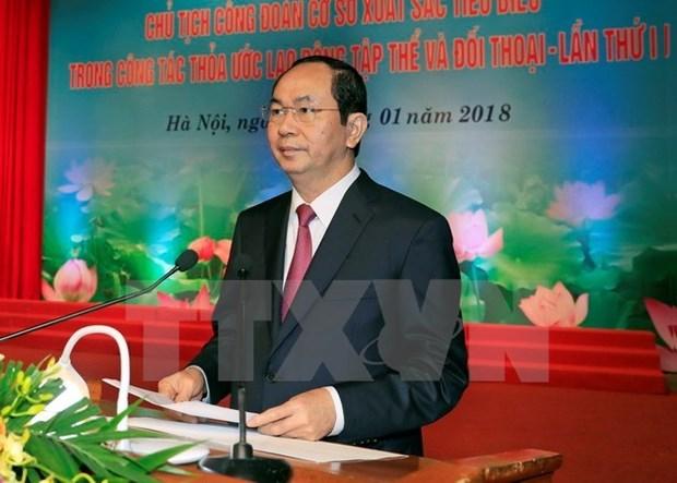 Presidente de Vietnam pide mayor atencion a trabajadores hinh anh 1