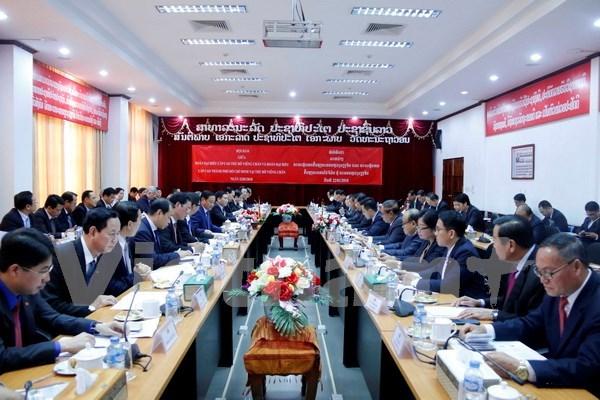 Ciudad Ho Chi Minh y Vientiane fortalecen cooperacion hinh anh 1