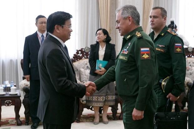 Laos y Rusia fomentan cooperacion en defensa nacional hinh anh 1