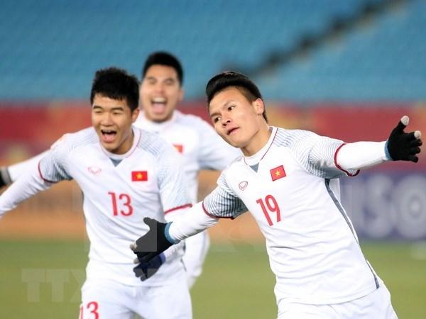 Medios de prensa japoneses saludan la victoria del equipo de futbol sub 23 de Vietnam hinh anh 1