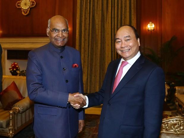 Premier vietnamita se reune con presidente indio hinh anh 1