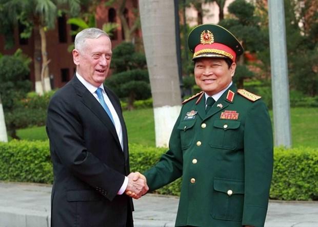 Vietnam y Estados Unidos se empenan en intensificar lazos en defensa hinh anh 1