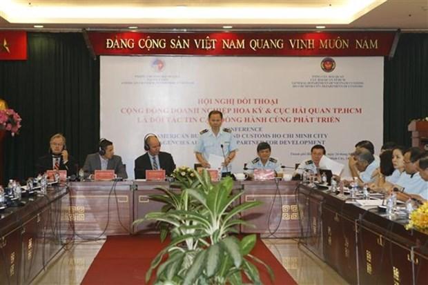 Aduana de Ciudad Ho Chi Minh mantiene dialogo con firmas estadounidenses hinh anh 1
