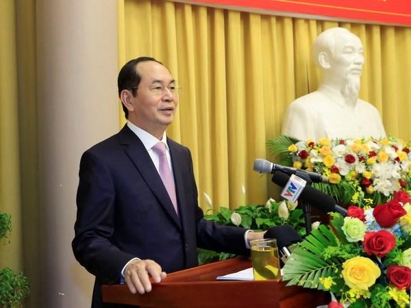 Presidente vietnamita urge a estimular el desarrollo de economia privada hinh anh 1