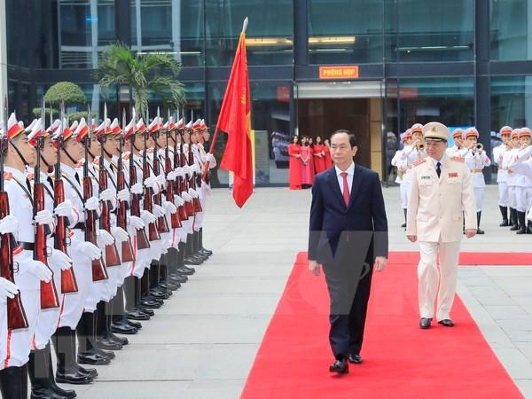 Exigen fomentar labores de fuerza logistica-tecnica de Seguridad Publica Popular de Vietnam hinh anh 1