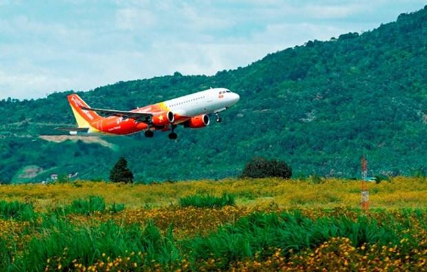 Aerolinea vietnamita lanza boletos promocionales para celebrar victoria de seleccion Sub 23 nacional hinh anh 1
