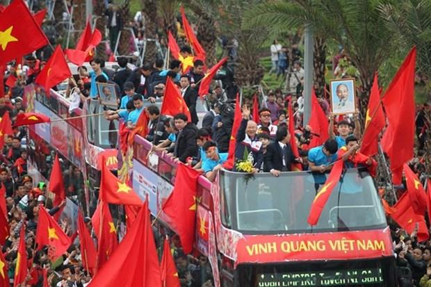 Seleccion Sub-23 regresa a Vietnam como herores nacionales hinh anh 1