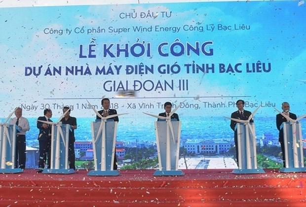 Inician tercera fase del proyecto de energia eolica en provincia vietnamita hinh anh 1