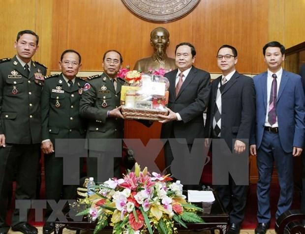 Resaltan cooperacion entre Camboya y Vietnam en seguridad y defensa hinh anh 1