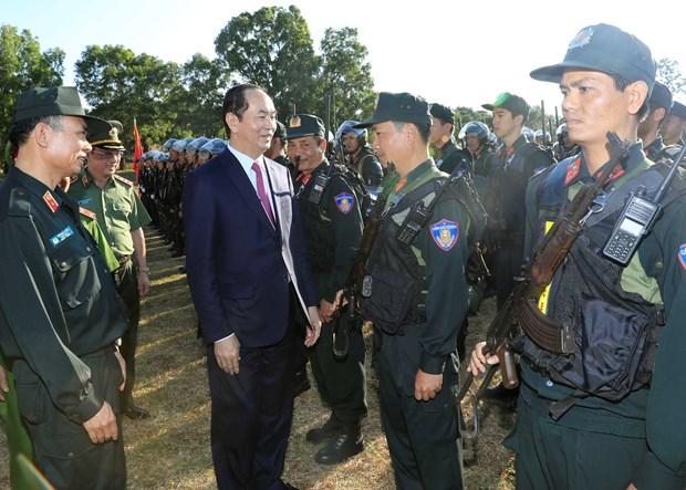Presidente vietnamita visita a fuerzas armadas en provincia altiplanica de Gia Lai hinh anh 1
