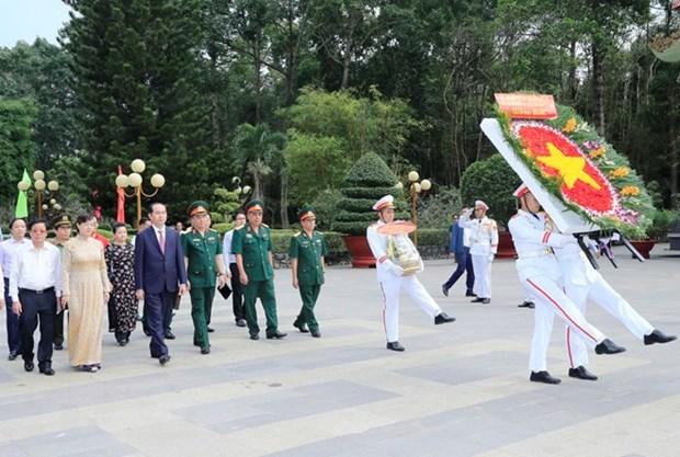 Presidente de Vietnam recorre Ciudad Ho Chi Minh en visperas del Tet hinh anh 1