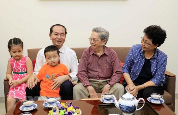 Presidente de Vietnam recorre Ciudad Ho Chi Minh en visperas del Tet hinh anh 2