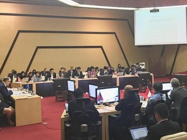 ASEAN y UE refuerzan combate contra desafios de seguridad convencionales y no convencionales hinh anh 1