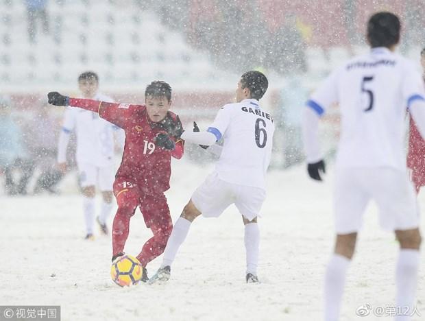 Gol de centrocampista Quang Hai votado como el mejor del Campeonato Asiatico hinh anh 1