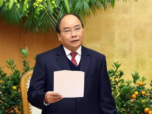 Premier vietnamita insta a disenar escenario de crecimiento de cada sector hinh anh 1