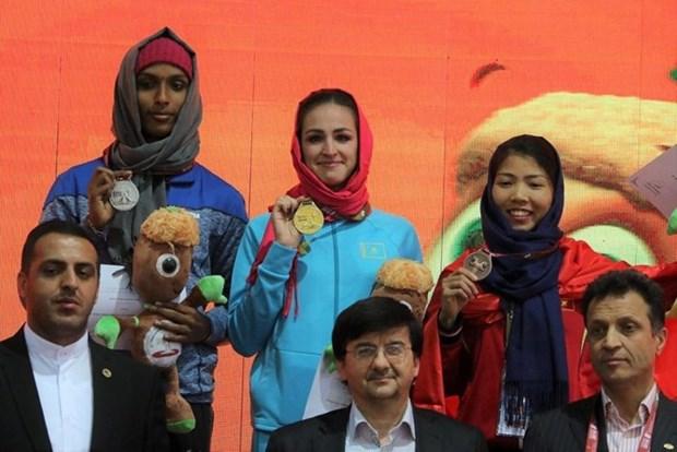 Atletas vietnamitas obtienen medallas de bronce en torneo asiatico hinh anh 1