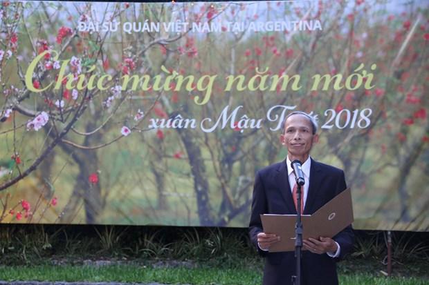 Comunidad vietnamita en Argentina celebra Fiesta del Nuevo Ano Lunar hinh anh 1