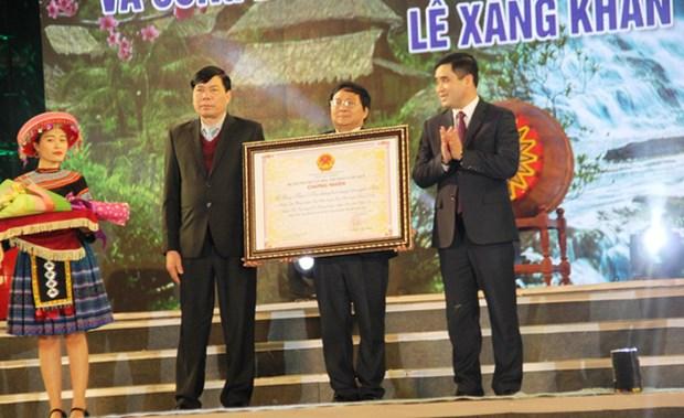 Festival tradicional de etnia Thai se reconoce como Patrimonio Cultural Inmaterial de Vietnam hinh anh 1