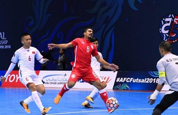 Equipo de futbol de sala de Vietnam derroto a Bahrein en campeonato asiatico hinh anh 1