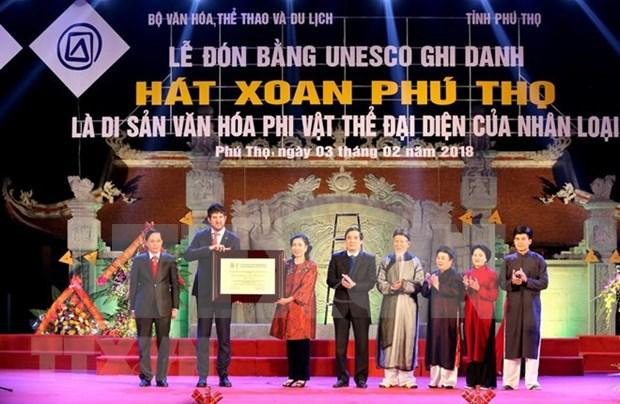 Provincia de Phu Tho recibe titulo de reconocimiento al Canto Xoan como patrimonio cultural intangible de la humanidad hinh anh 1