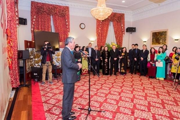 Vietnamitas en Estados Unidos y Reino Unido celebran Tet hinh anh 1