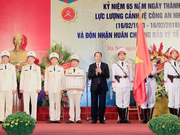 Destaca presidente de Vietnam funcion de la Guardia de la Policia Popular hinh anh 1
