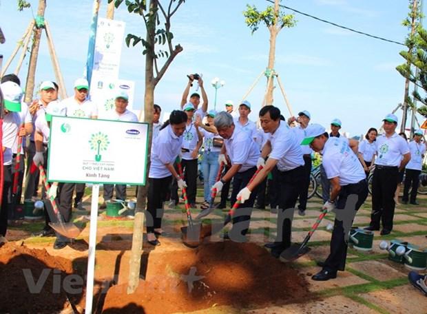 Presidenta parlamentaria destaca la importancia de la plantacion de arboles hinh anh 1